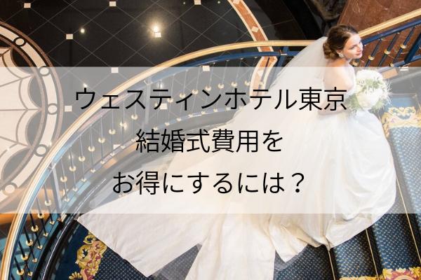 ウェスティンホテル東京の結婚式費用を安くするには?キャンペーン&裏ワザで節約しよう